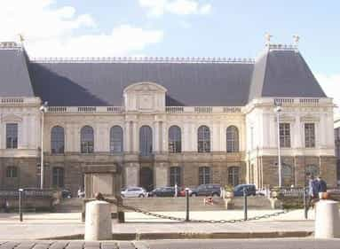 parlament palace in rennes, france