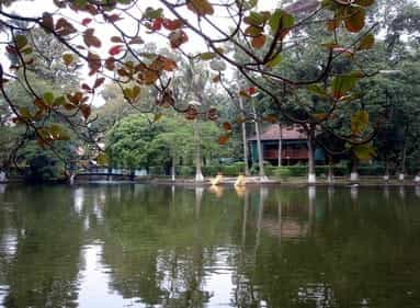 park in the city of ho chi minh, vietnam