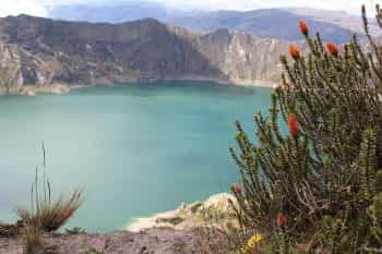 small crater lake in loja, ecuador