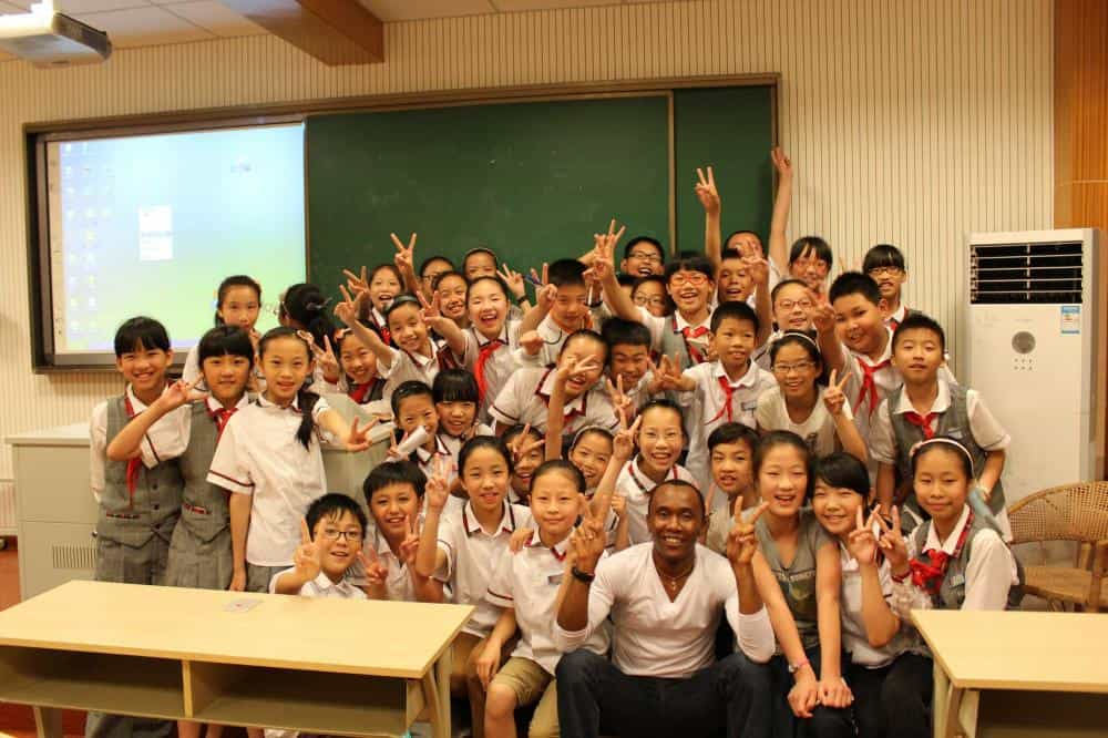 Happy Students and Teacher in Beijing