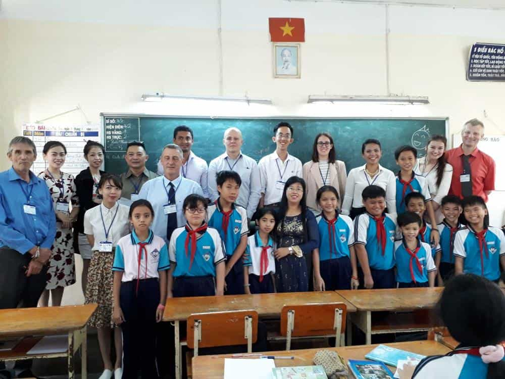 Happy Students and Teachers in Ho Chi Minh