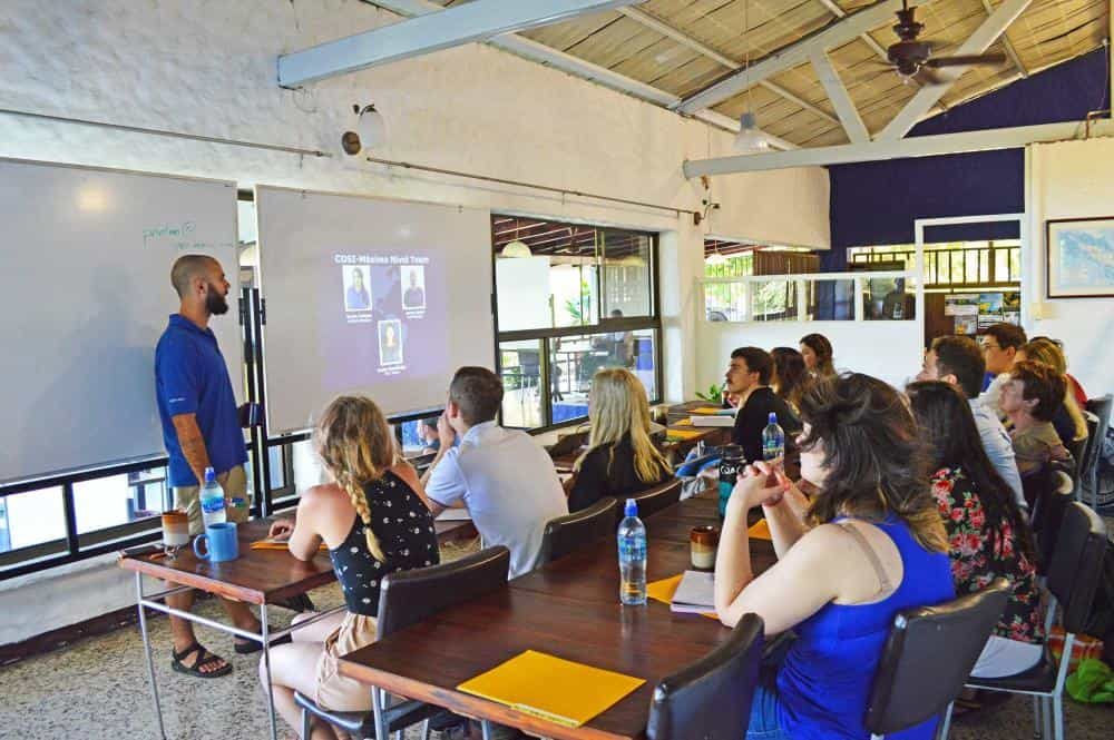 Theoretical teaching sessions in Costa Rica