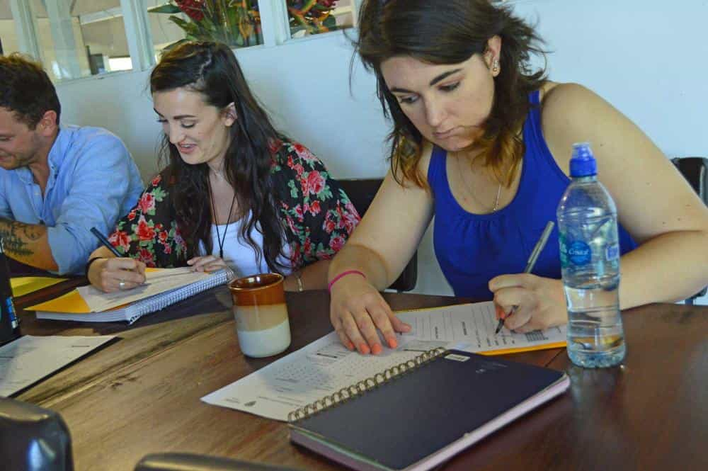 TEFL Trainees studying at Costa Rica Center